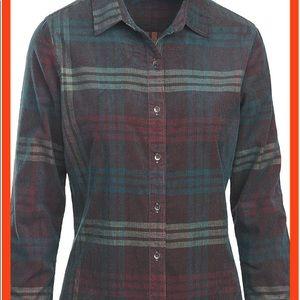 Woolrich Women's Rappel Cord Shirt Ruby SZ L EUC
